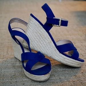 "3.5"" blue platform wedges"